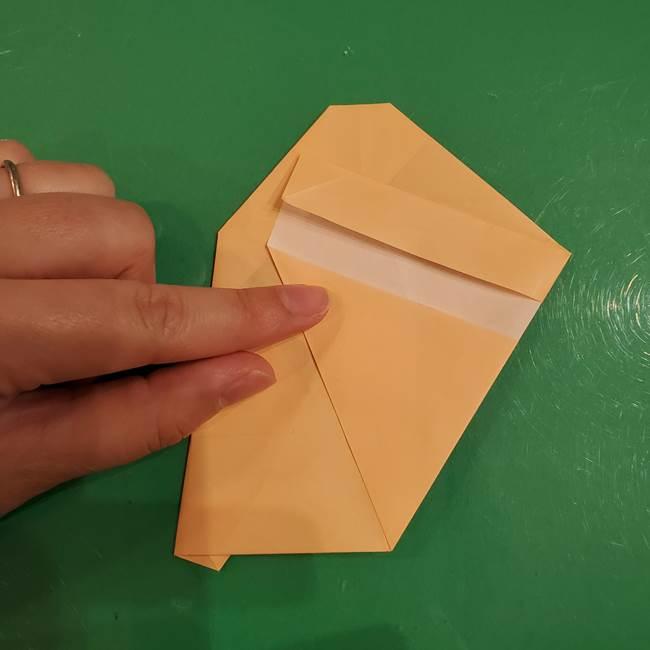 フクロウの折り紙★幼稚園児にも簡単な折り方作り方①折り方(18)