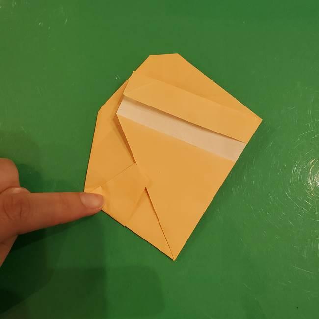 フクロウの折り紙★幼稚園児にも簡単な折り方作り方①折り方(19)