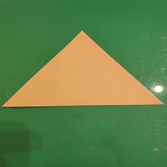フクロウの折り紙★幼稚園児にも簡単な折り方作り方①折り方(2)