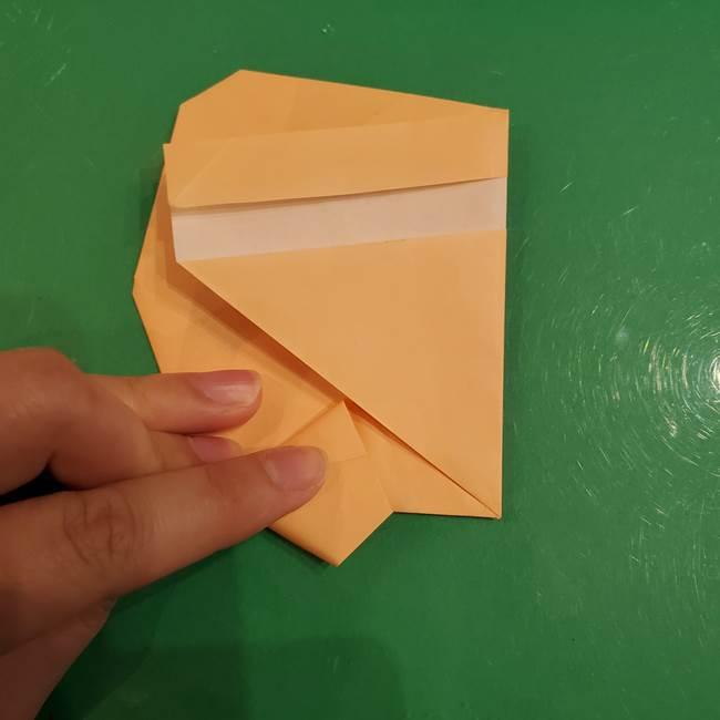 フクロウの折り紙★幼稚園児にも簡単な折り方作り方①折り方(21)