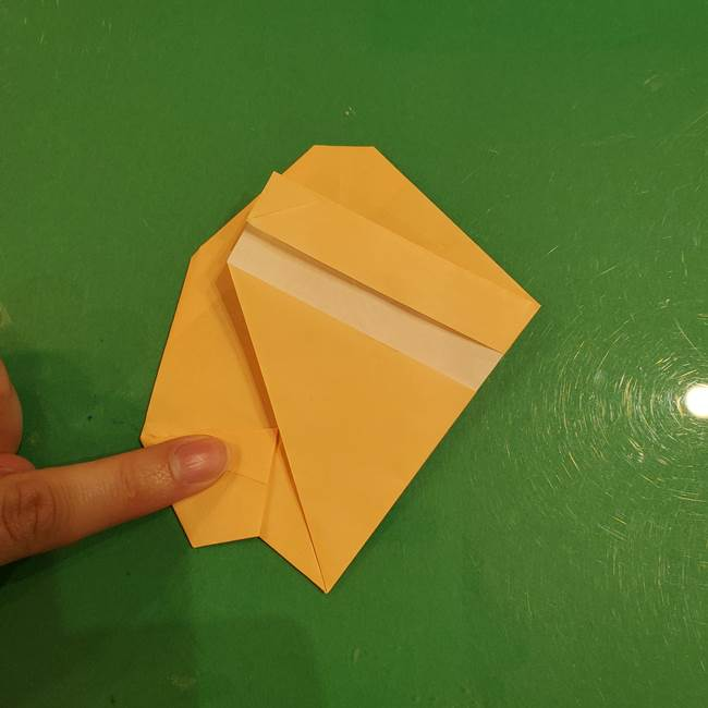 フクロウの折り紙★幼稚園児にも簡単な折り方作り方①折り方(22)