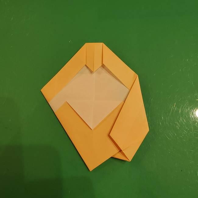 フクロウの折り紙★幼稚園児にも簡単な折り方作り方①折り方(23)
