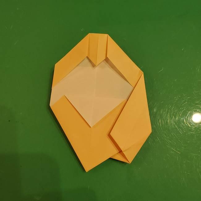 フクロウの折り紙★幼稚園児にも簡単な折り方作り方①折り方(24)