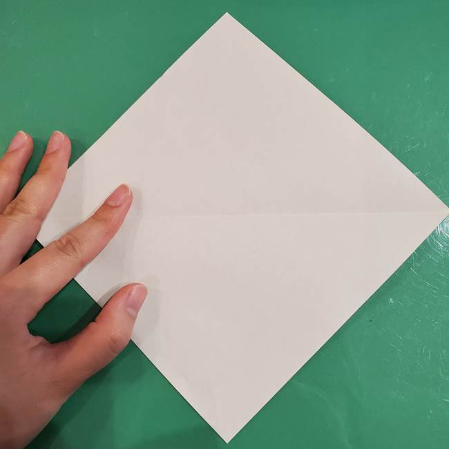 フクロウの折り紙★幼稚園児にも簡単な折り方作り方①折り方(3)