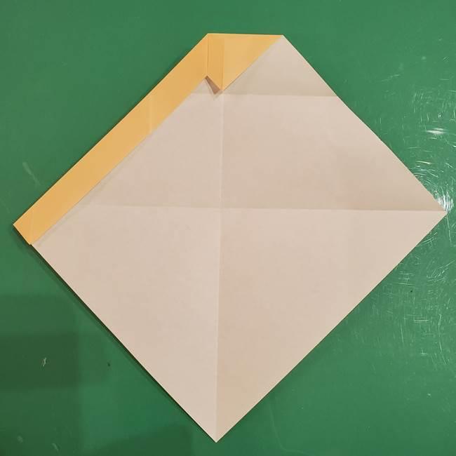 フクロウの折り紙★幼稚園児にも簡単な折り方作り方①折り方(9)