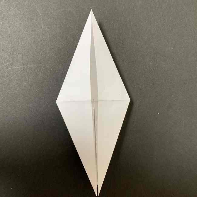 折り紙のオラフの作り方折り方(雪だるまの全身) (12)