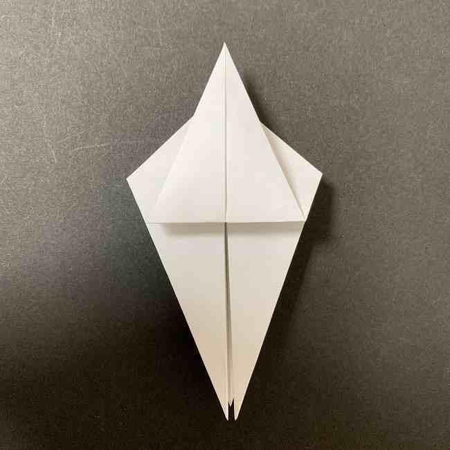 折り紙のオラフの作り方折り方(雪だるまの全身) (14)