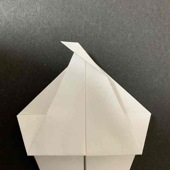 折り紙のオラフの作り方折り方(雪だるまの全身) (15)