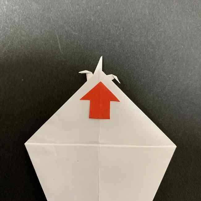折り紙のオラフの作り方折り方(雪だるまの全身) (25)