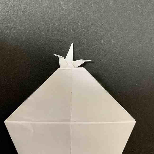 折り紙のオラフの作り方折り方(雪だるまの全身) (26)