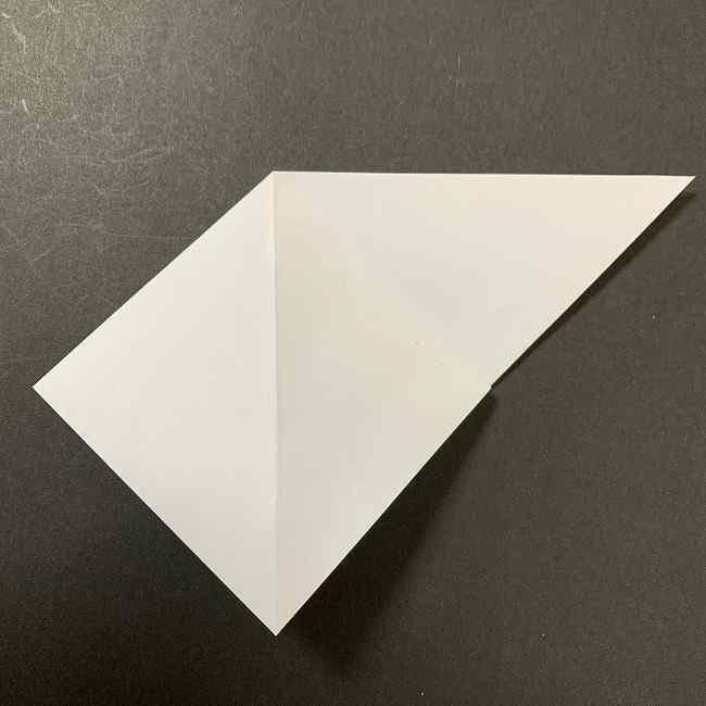 折り紙のオラフの作り方折り方(雪だるまの全身) (4)