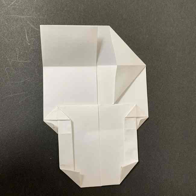 折り紙のオラフの作り方折り方(雪だるまの全身) (44)