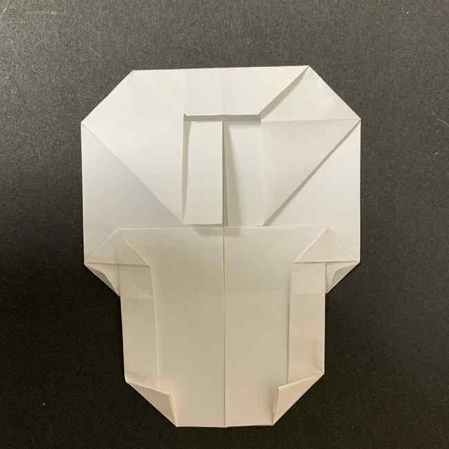 折り紙のオラフの作り方折り方(雪だるまの全身) (46)
