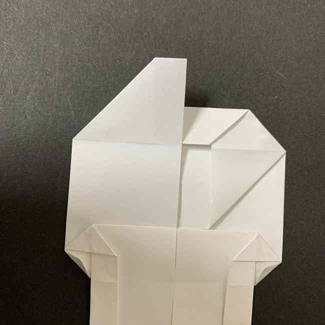 折り紙のオラフの作り方折り方(雪だるまの全身) (47)
