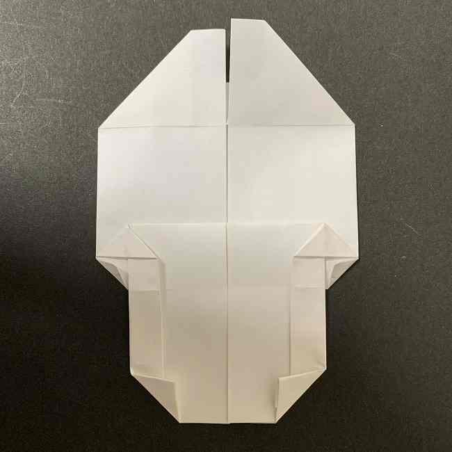 折り紙のオラフの作り方折り方(雪だるまの全身) (48)