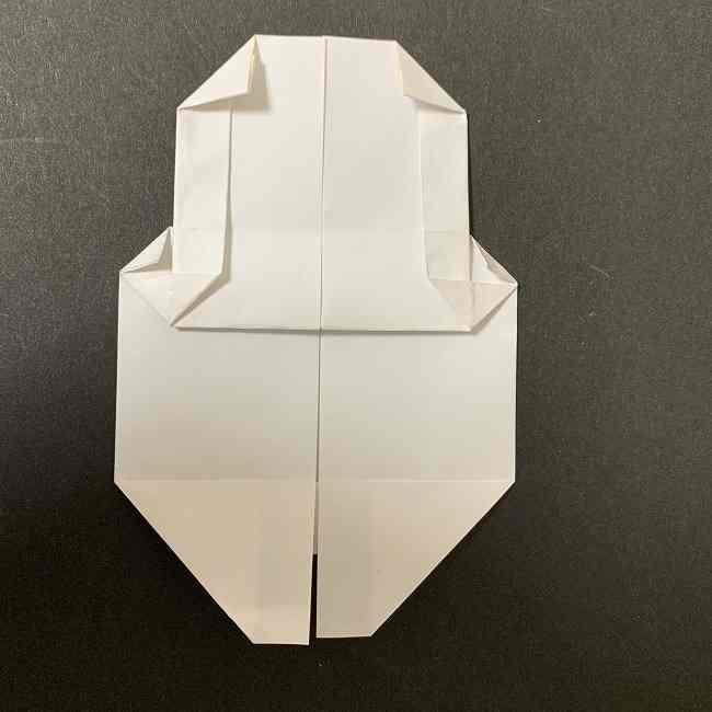 折り紙のオラフの作り方折り方(雪だるまの全身) (49)