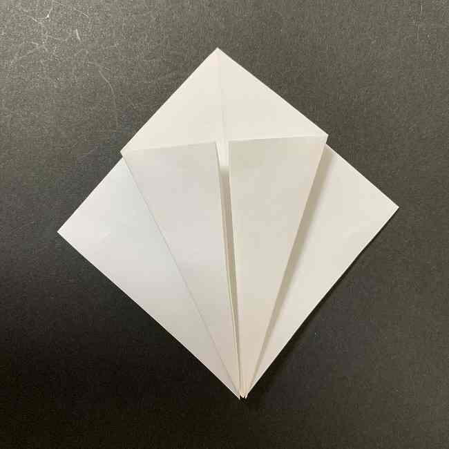 折り紙のオラフの作り方折り方(雪だるまの全身) (6)