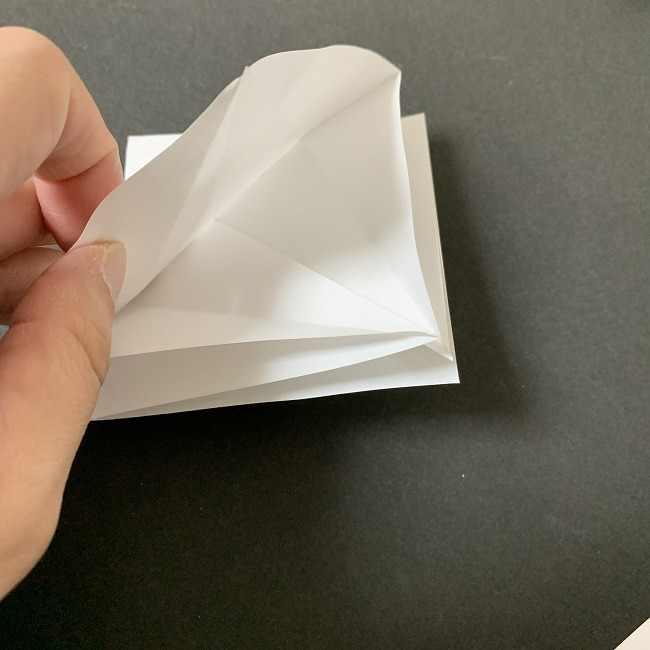 折り紙のオラフの作り方折り方(雪だるまの全身) (9)