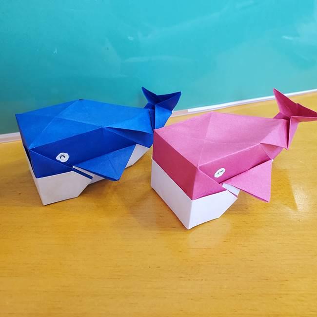 折り紙のクジラは箱みたいでかわいい!立体的で自立する折り方作り方を紹介☆