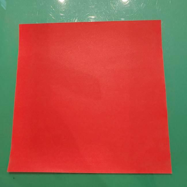 折り紙のリス(立体)は難しい?用意するもの1