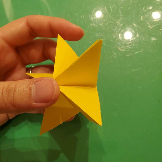 折り紙の流れ星①星パーツの折り方(21)
