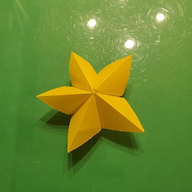 折り紙の流れ星①星パーツの折り方(26)