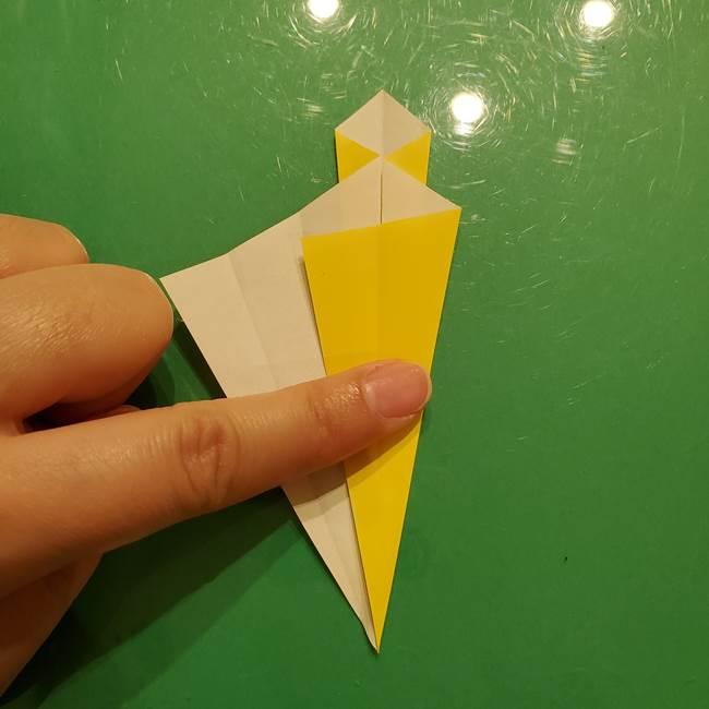 折り紙の流れ星②流星痕(後ろの部分)の折り方(13)