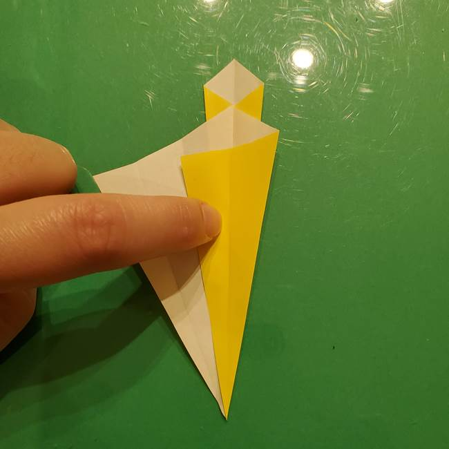 折り紙の流れ星②流星痕(後ろの部分)の折り方(14)