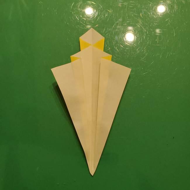 折り紙の流れ星②流星痕(後ろの部分)の折り方(16)