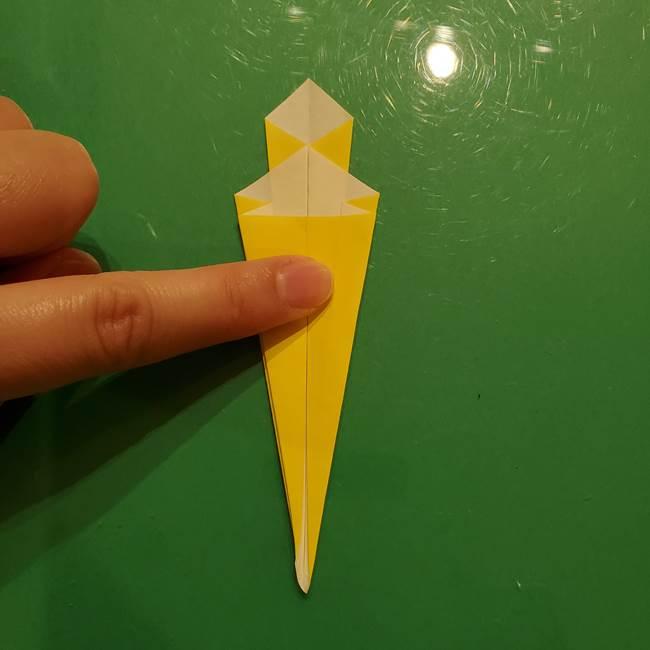 折り紙の流れ星②流星痕(後ろの部分)の折り方(17)