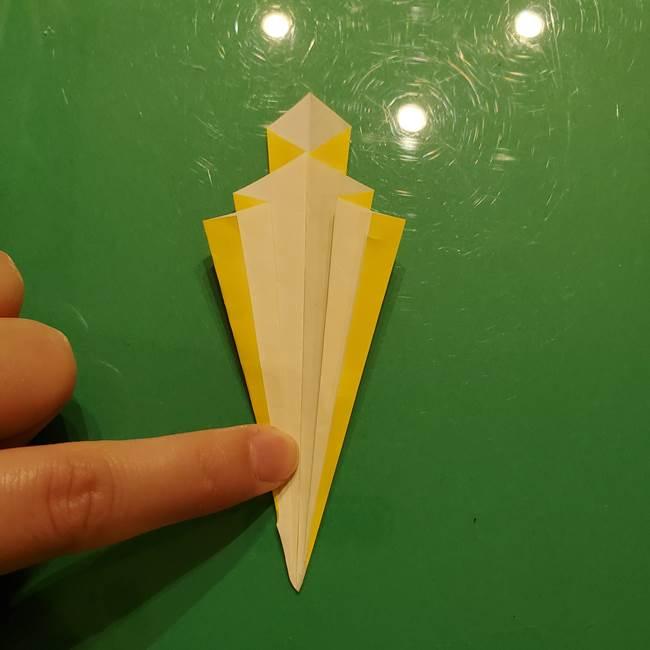折り紙の流れ星②流星痕(後ろの部分)の折り方(19)