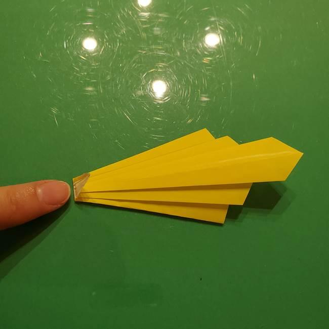 折り紙の流れ星②流星痕(後ろの部分)の折り方(21)