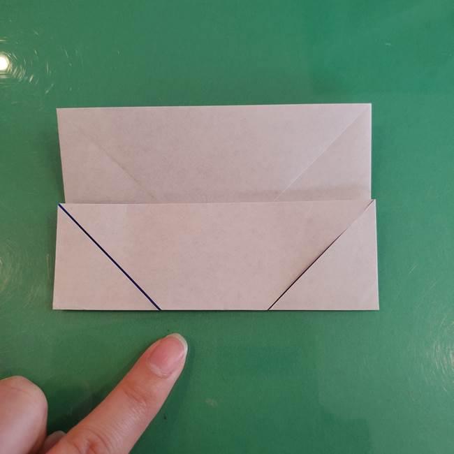 折り紙の箱クジラ(立体)折り方作り方(14)