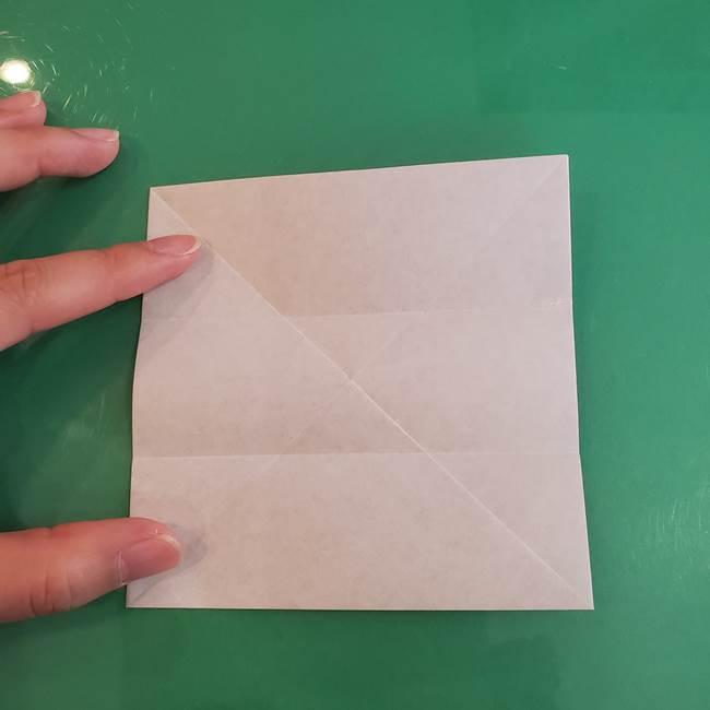 折り紙の箱クジラ(立体)折り方作り方(17)