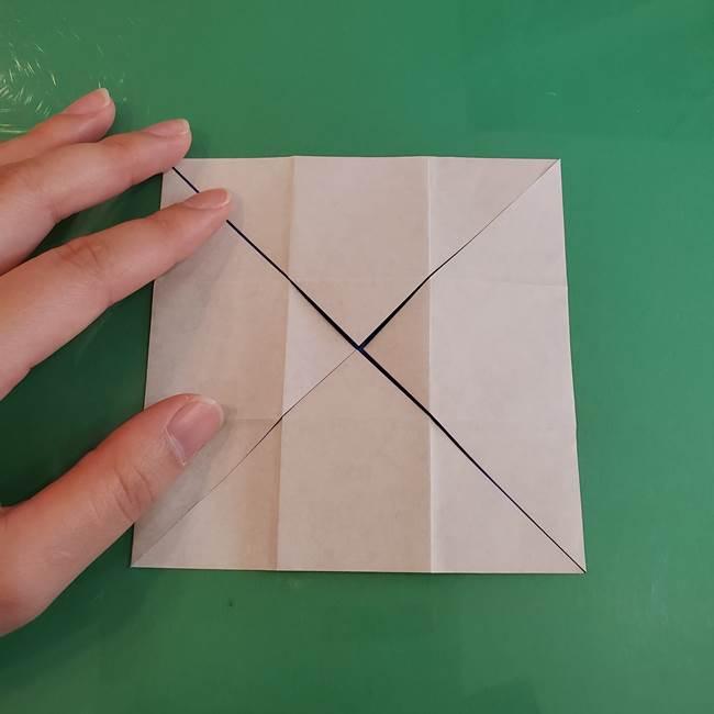 折り紙の箱クジラ(立体)折り方作り方(20)