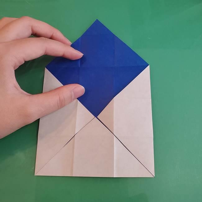 折り紙の箱クジラ(立体)折り方作り方(21)
