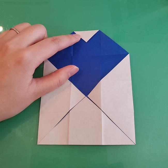 折り紙の箱クジラ(立体)折り方作り方(22)