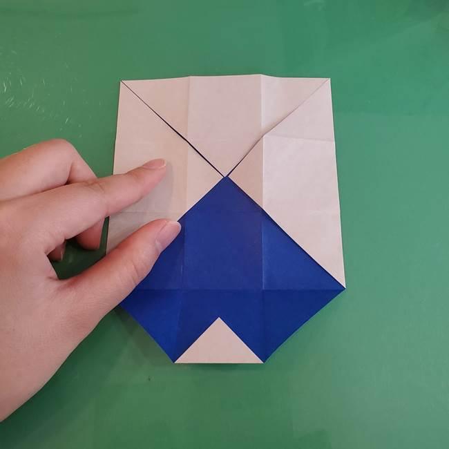 折り紙の箱クジラ(立体)折り方作り方(23)