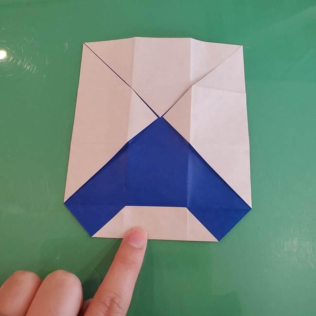 折り紙の箱クジラ(立体)折り方作り方(24)