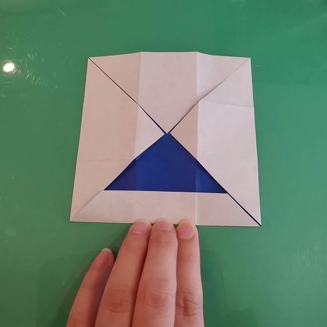折り紙の箱クジラ(立体)折り方作り方(25)