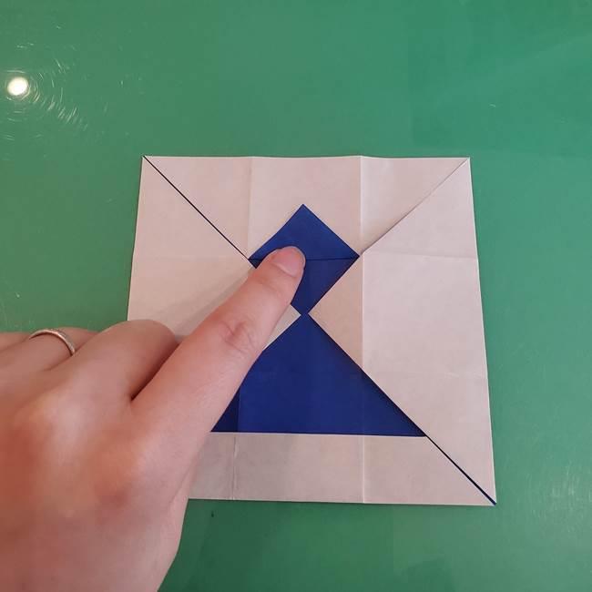 折り紙の箱クジラ(立体)折り方作り方(26)