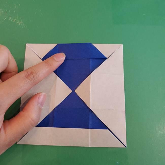 折り紙の箱クジラ(立体)折り方作り方(27)