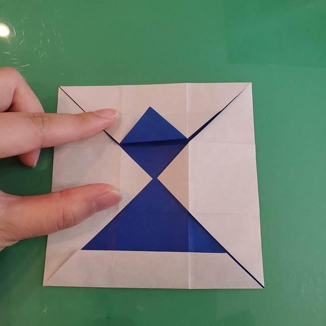 折り紙の箱クジラ(立体)折り方作り方(28)