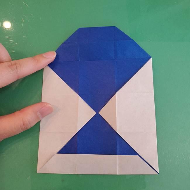 折り紙の箱クジラ(立体)折り方作り方(29)