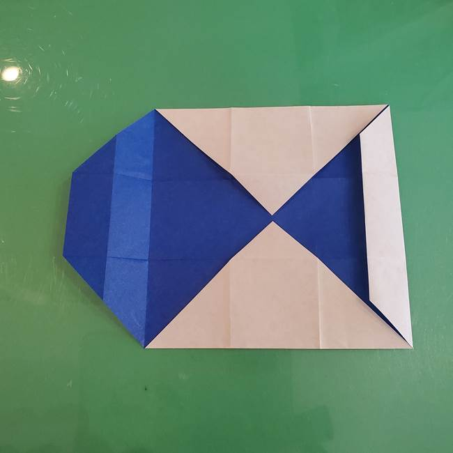 折り紙の箱クジラ(立体)折り方作り方(30)