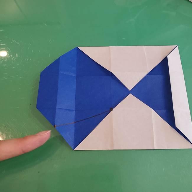 折り紙の箱クジラ(立体)折り方作り方(31)