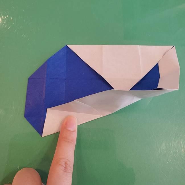 折り紙の箱クジラ(立体)折り方作り方(32)