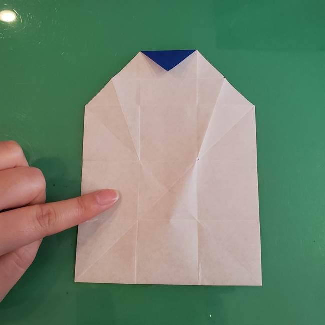 折り紙の箱クジラ(立体)折り方作り方(35)