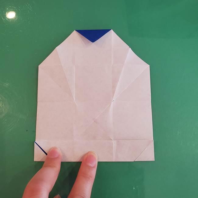 折り紙の箱クジラ(立体)折り方作り方(36)