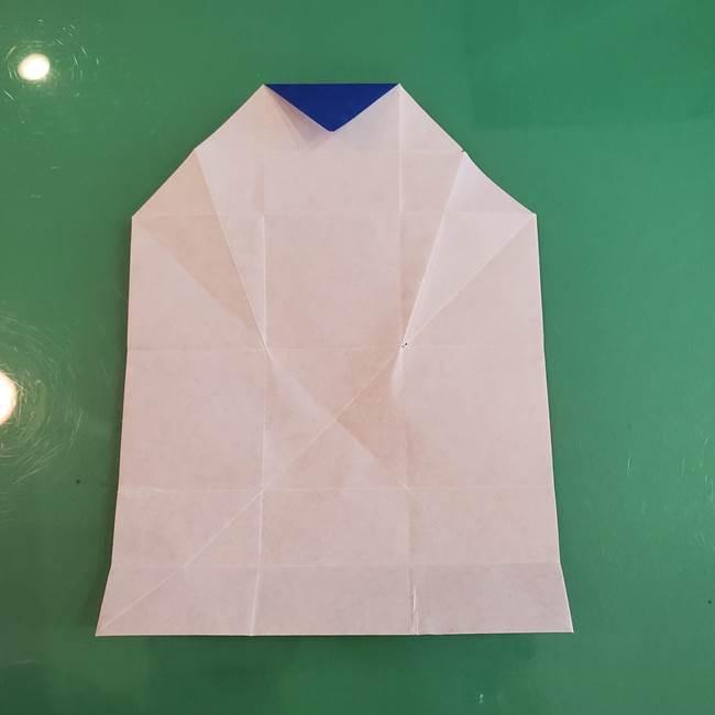 折り紙の箱クジラ(立体)折り方作り方(37)